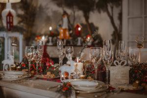 dettagli tavola natalizia