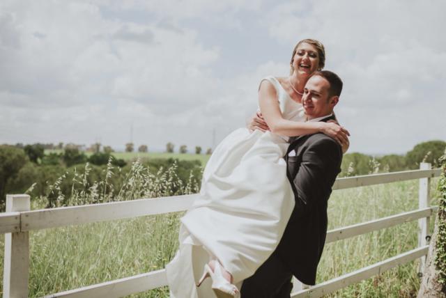le risate degli sposi