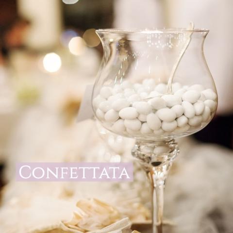 La nostra confettata con confetti di alta qualità